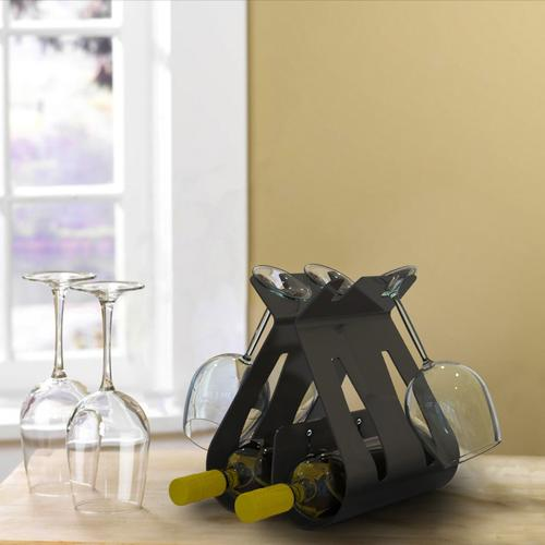 Vino Wine Bottle and Wine Glass Holder