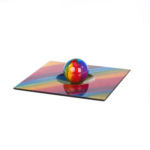 Colorful Square Centerpiece and Dome | 100% hand crafted
