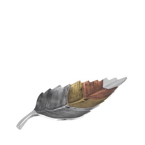 Tri- Tone Leaf Plate   Small