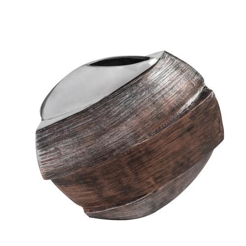 Round Tri-Tone Aluminum Vase