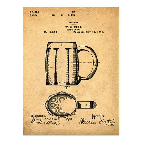 Beer Mug- Sepia/Antique   Paper