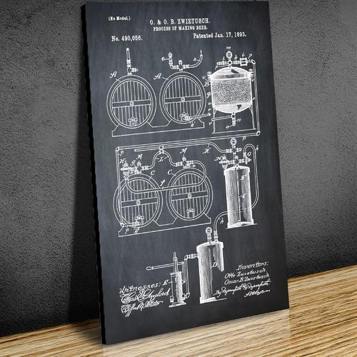 Brewery Patent - 1891 Chalk   Canvas