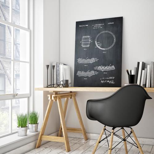Whiskey Barrell- Chalk   Canvas