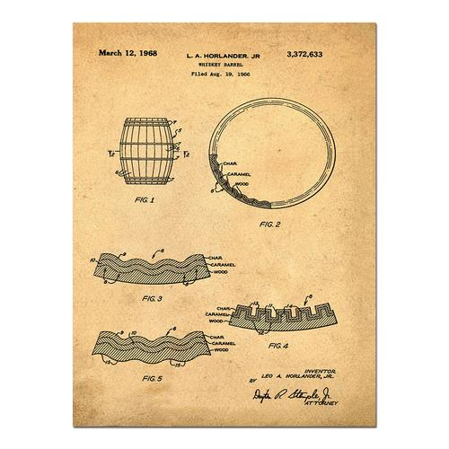 Whiskey Barrell- Sepia/Antique   Paper