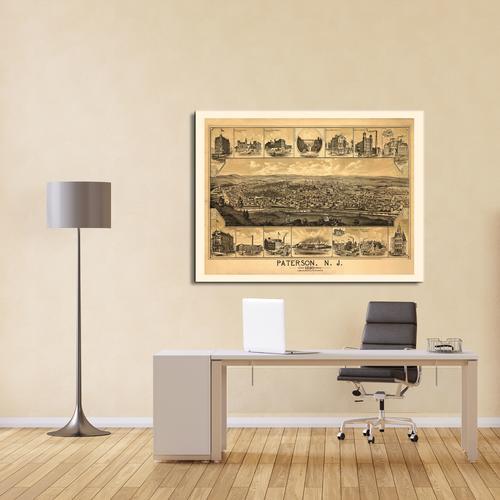 Paterson, NJ-1880 | Canvas
