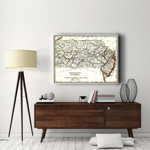 Pennsylvania & New Jersey | Canvas