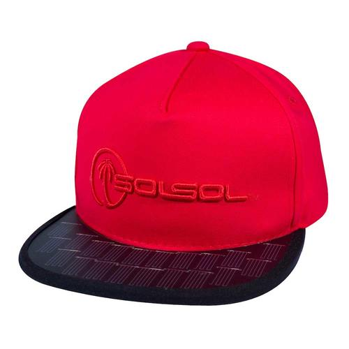 The Solar Charger Hat | Red & Black