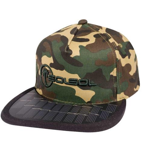 The Solar Charger Hat | Camo/Black