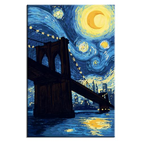 Starry Night over Brooklyn Bridge