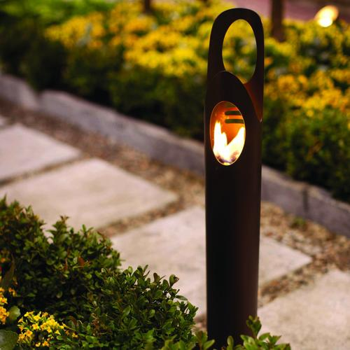 Cyrus Bio Ethanol Outdoor Torch  In Bronze