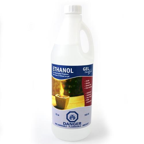 Gel Ethanol   32oz Refill Bottle   12 Pack