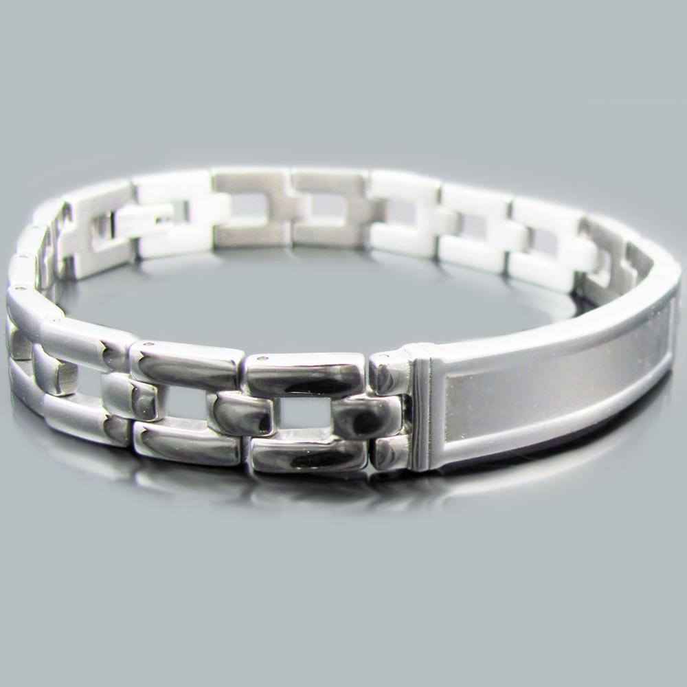 stainless steel id link bracelet blackjack jewelry