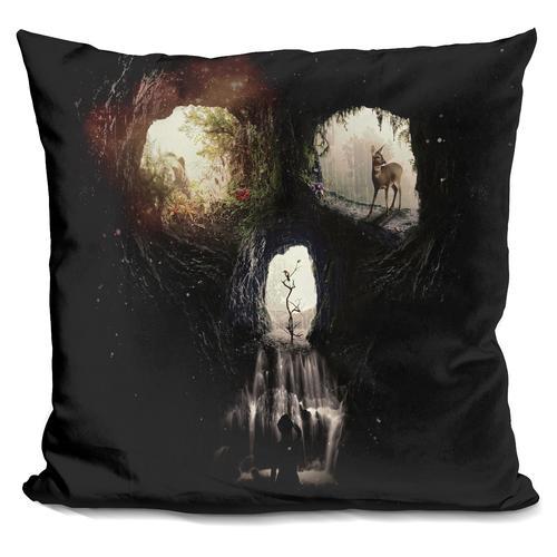 'Cave skull pill' Throw Pillow