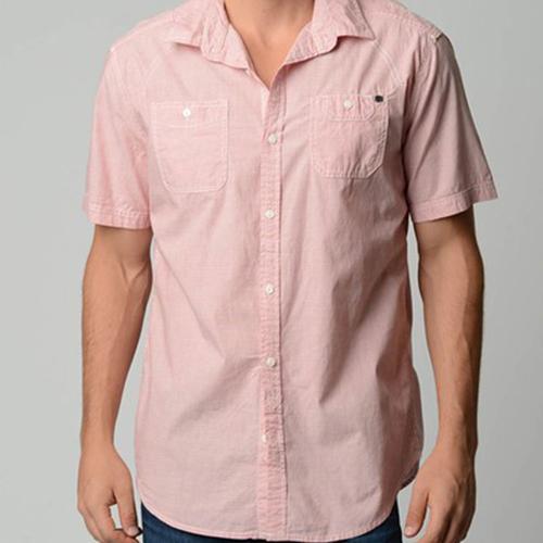 Drew Shirt   Salmon Red
