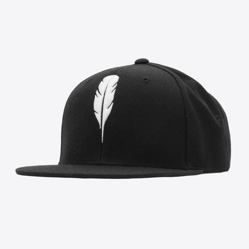 Feather Snapback | White