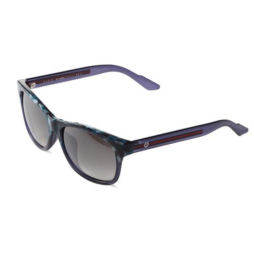 Havana Blue Frame Sunglasses with Grey Gradient lenses