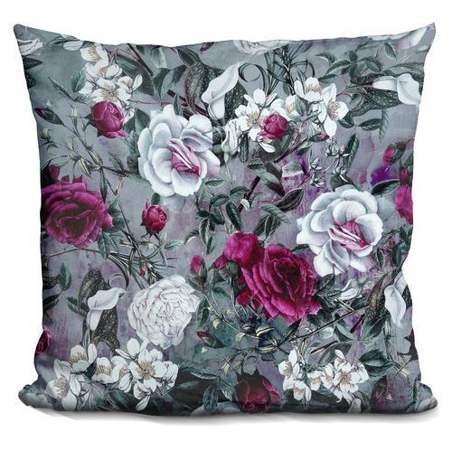 Riza Peker 'Botanical Flowers' Throw Pillow