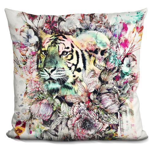 Riza Peker 'Interpretation of a dream - Tiger' Throw Pillow