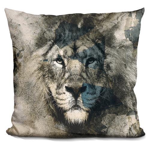 Riza Peker 'Lion Camouflage' Throw Pillow