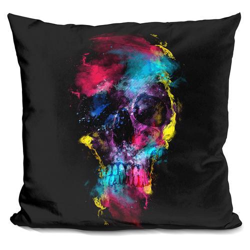Riza Peker 'Skull IX' Throw Pillow