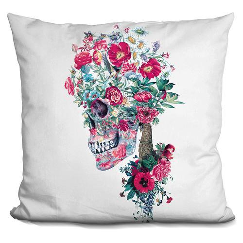 Riza Peker 'SKULL XIII' Throw Pillow