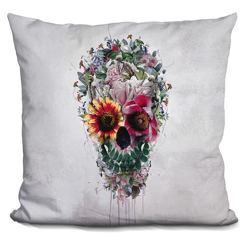 Riza Peker 'Sugar Skull' Throw Pillow