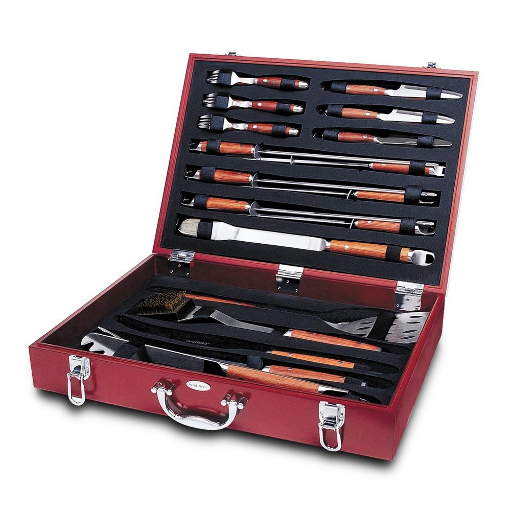 forged 25pc bbq set in case berghoff grilling tools. Black Bedroom Furniture Sets. Home Design Ideas