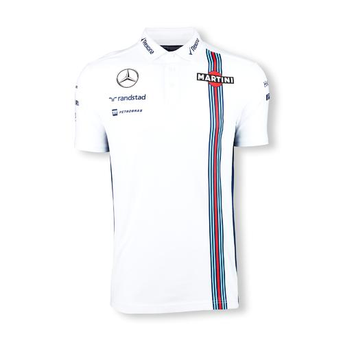 WILLIAMS MARTINI RACING PIQUE POLO SHIRT MENS 2016 REPLICA