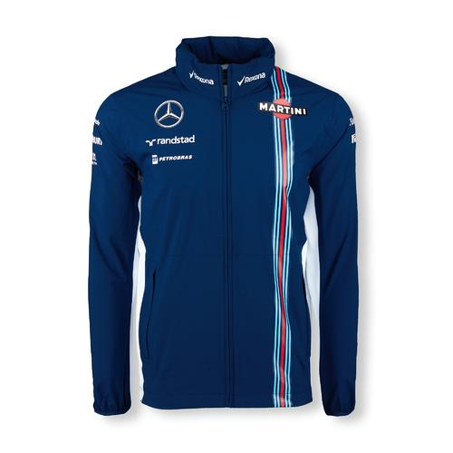 WILLIAMS MARTINI RACING RAIN JACKET MENS 2016 REPLICA