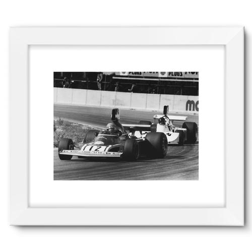 Niki Lauda AND James Hunt - 1974   White