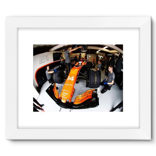 Fernando Alonso, McLaren MCL32 | White